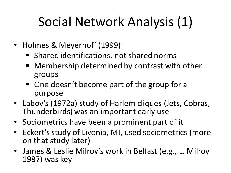 Social Network Analysis (1)