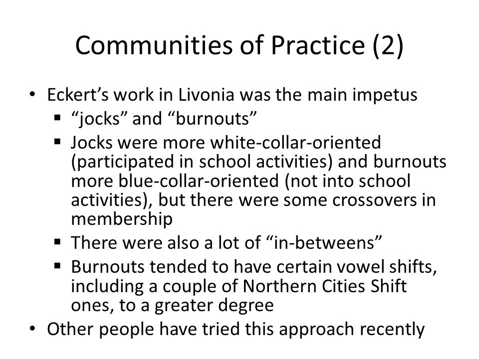Communities of Practice (2)