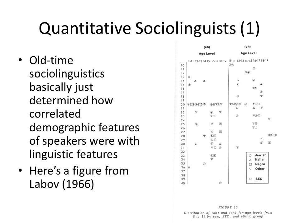 Quantitative Sociolinguists (1)