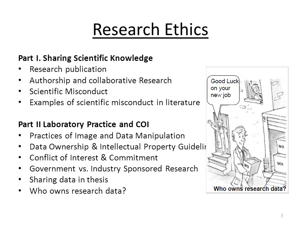 Research Ethics Part I. Sharing Scientific Knowledge