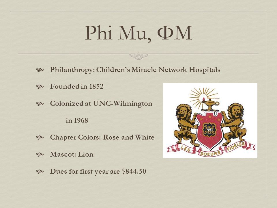 Phi Mu, ΦΜ Philanthropy: Children's Miracle Network Hospitals