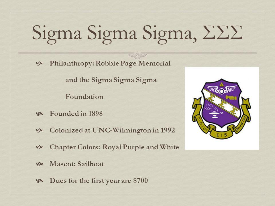 Sigma Sigma Sigma, ΣΣΣ Philanthropy: Robbie Page Memorial