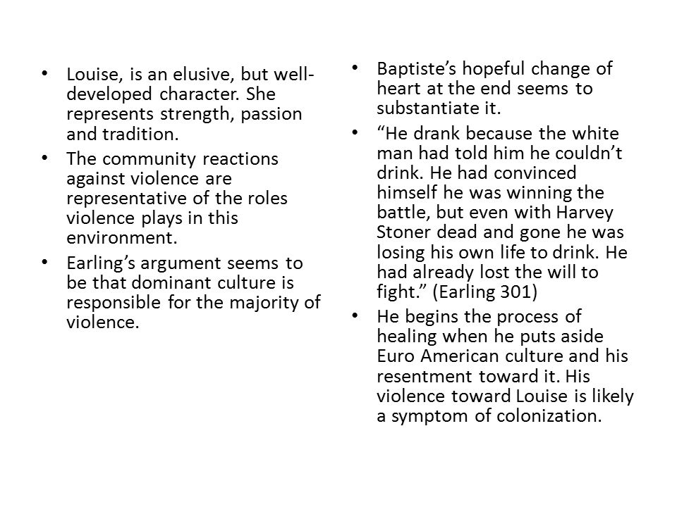 Baptiste's hopeful change of heart at the end seems to substantiate it.