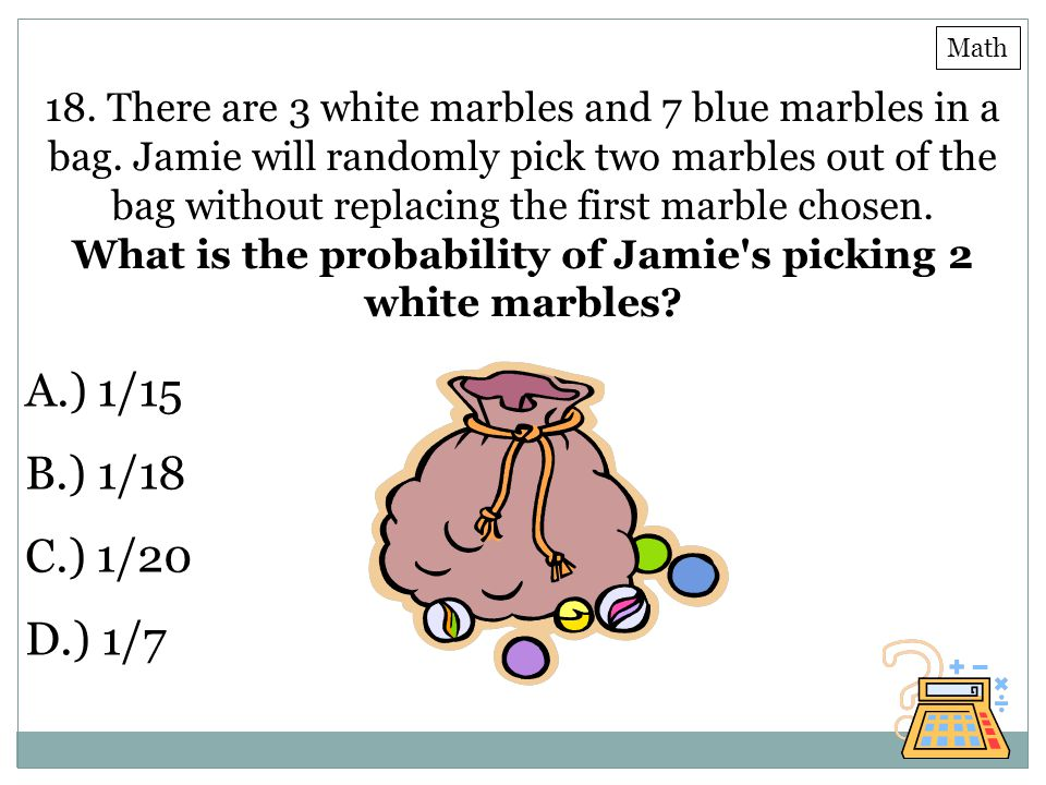 What is the probability of Jamie s picking 2 white marbles