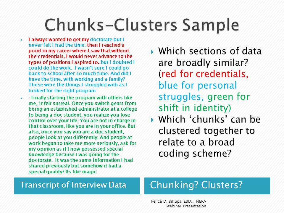 Chunks-Clusters Sample