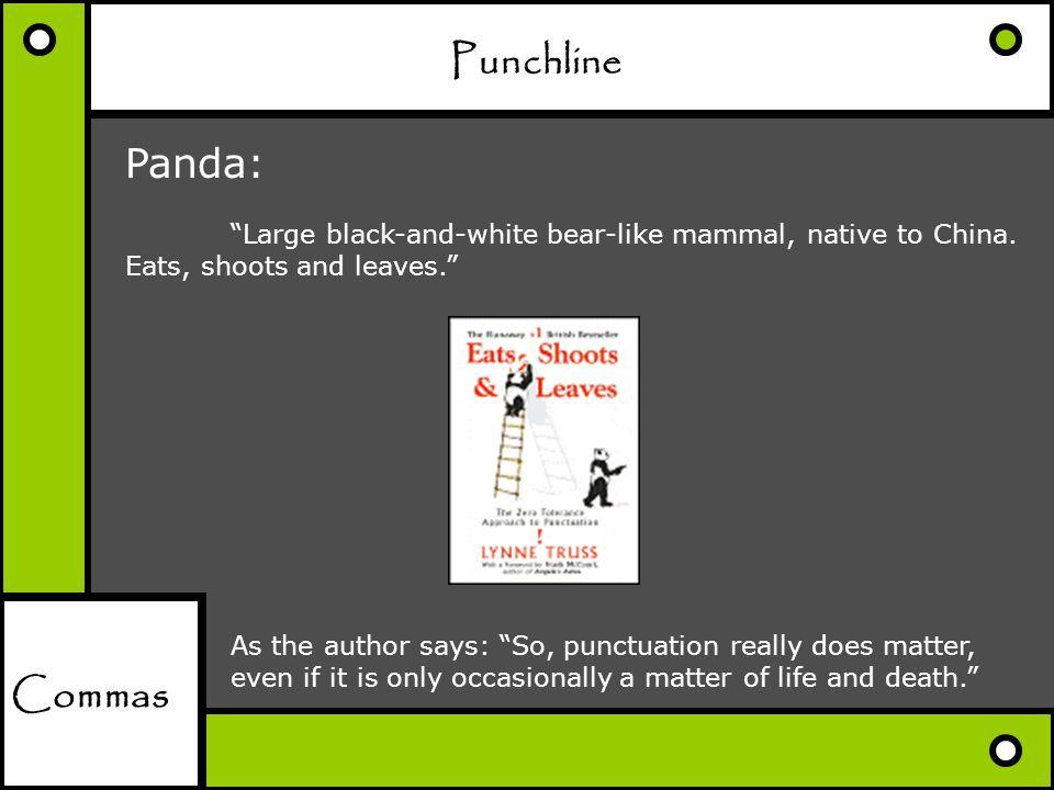 Punchline Panda: Commas