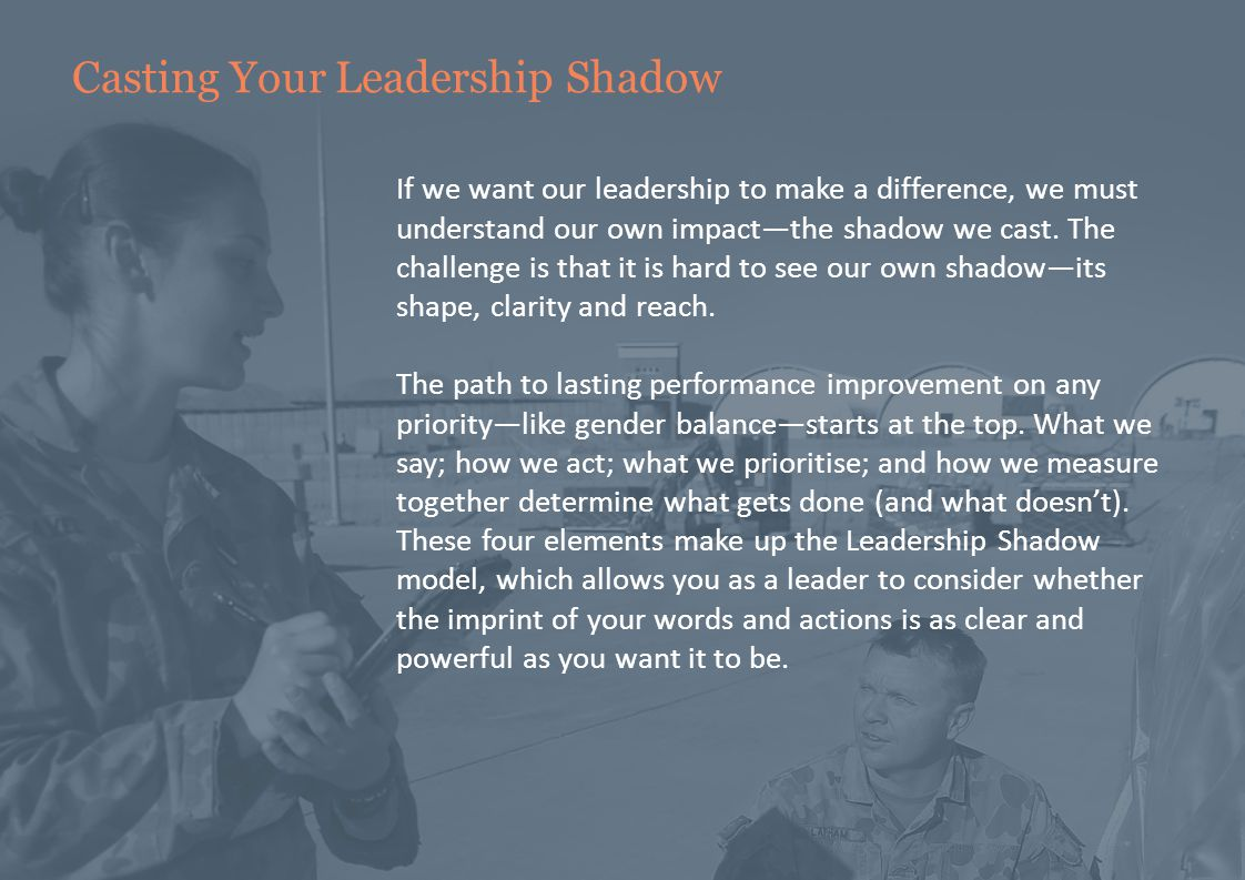 The Leadership Shadow My Leadership Shadow What I say How I measure