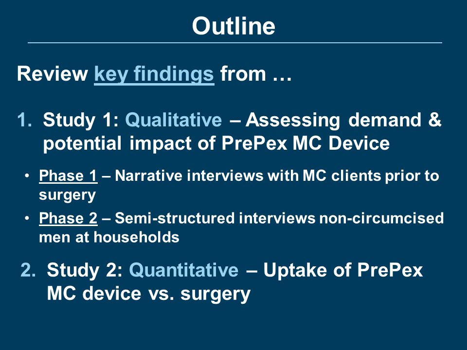 Outline Review key findings from …