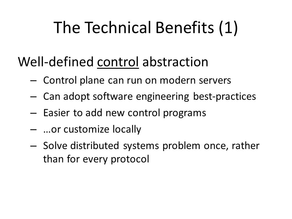 The Technical Benefits (1)