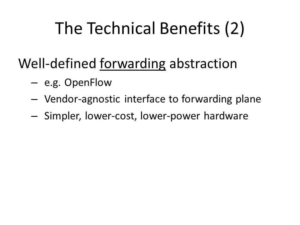 The Technical Benefits (2)