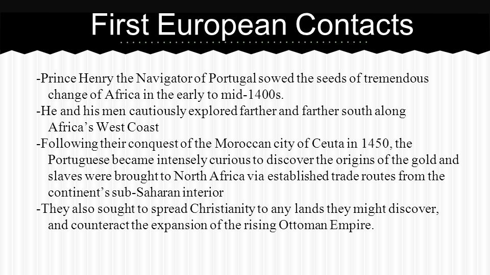 First European Contacts