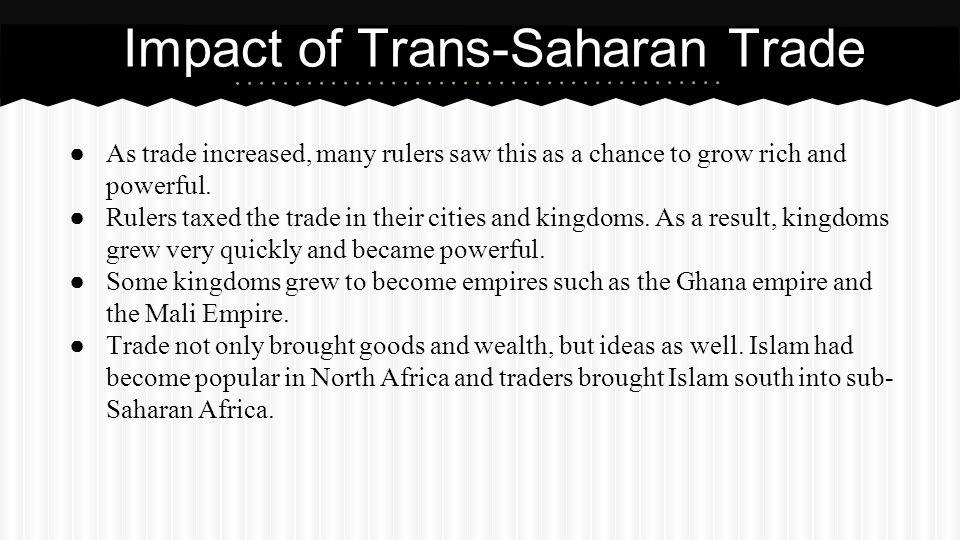 Impact of Trans-Saharan Trade