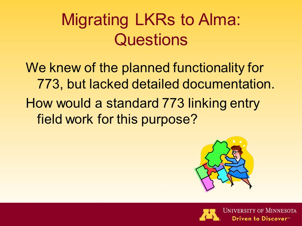 Migrating LKRs to Alma: Questions
