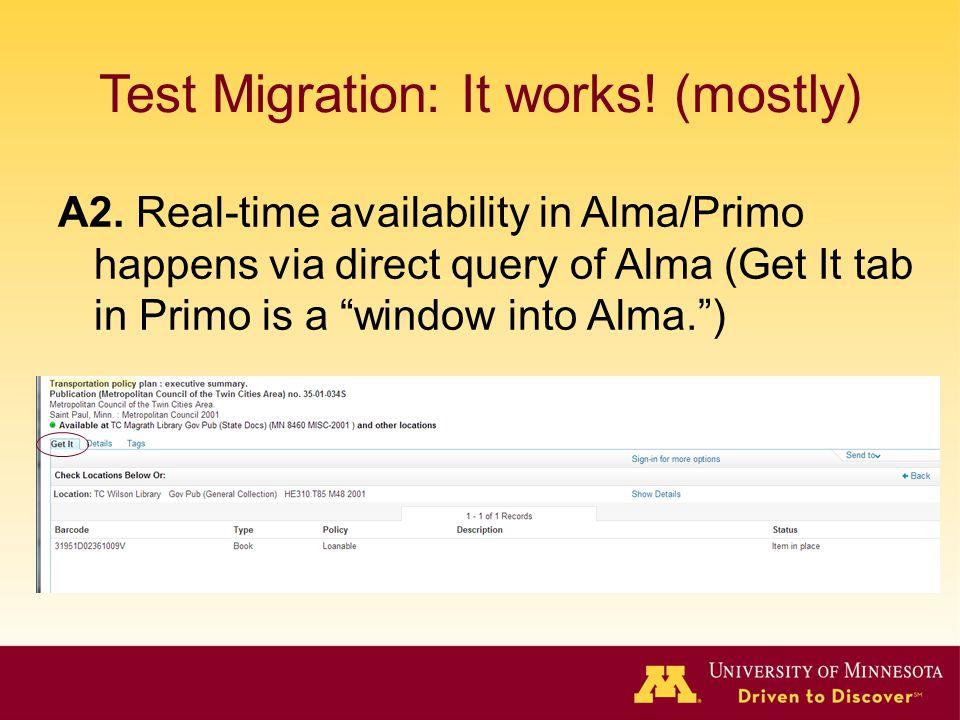 Test Migration: It works! (mostly)