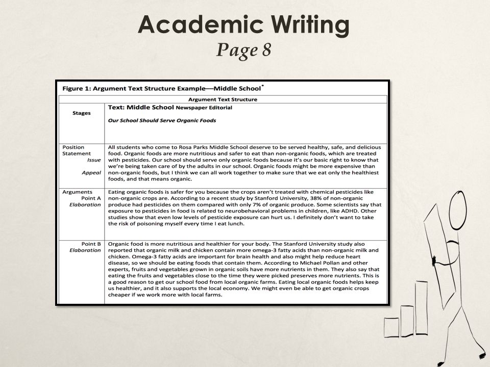 Academic Writing Page 8 All Students are expected to write in this manner…linked sentences, cohesive text, proper text structure…
