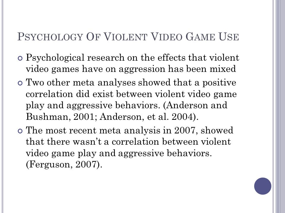 Physical effects from violent video game