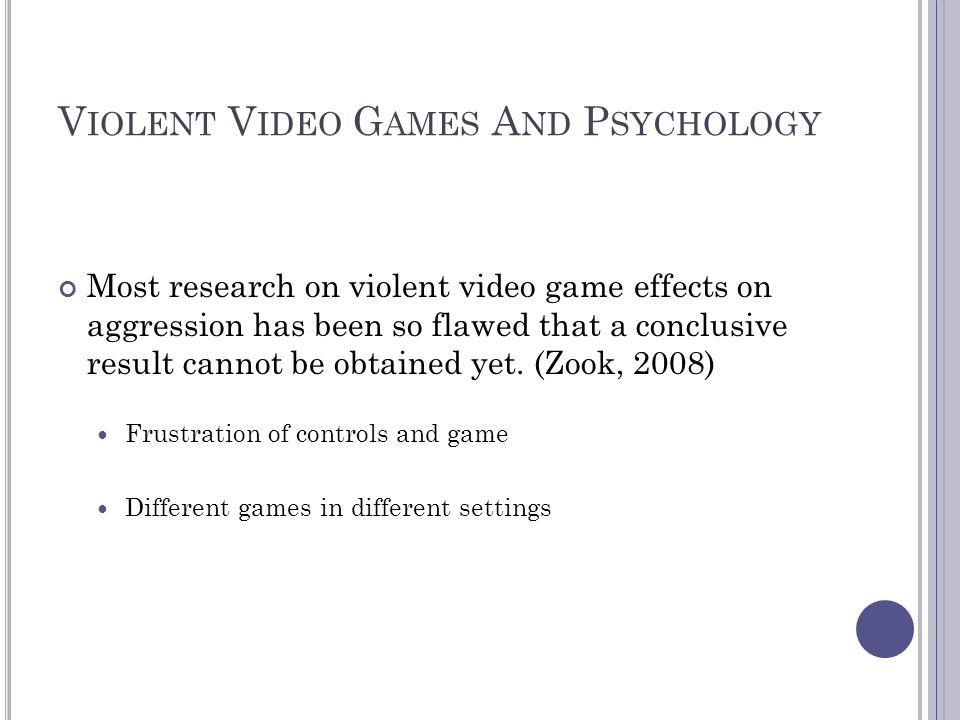 Violent Video Games And Psychology