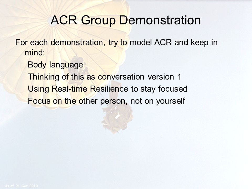 ACR Group Demonstration