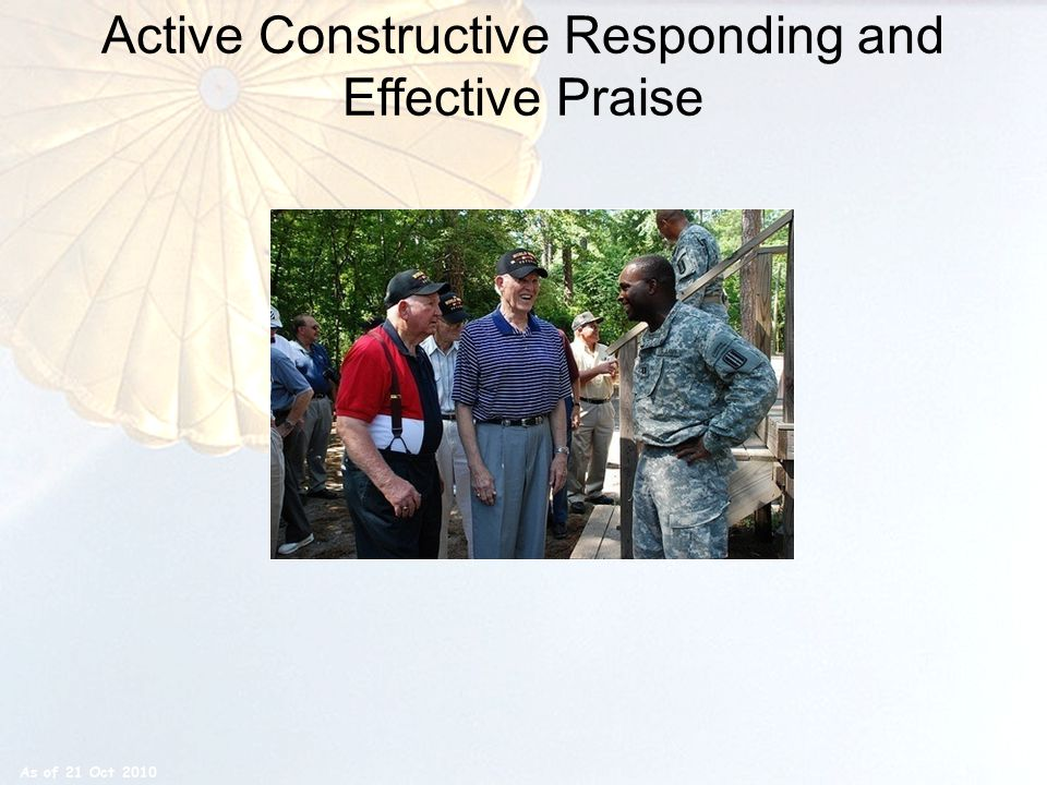 Active Constructive Responding and Effective Praise