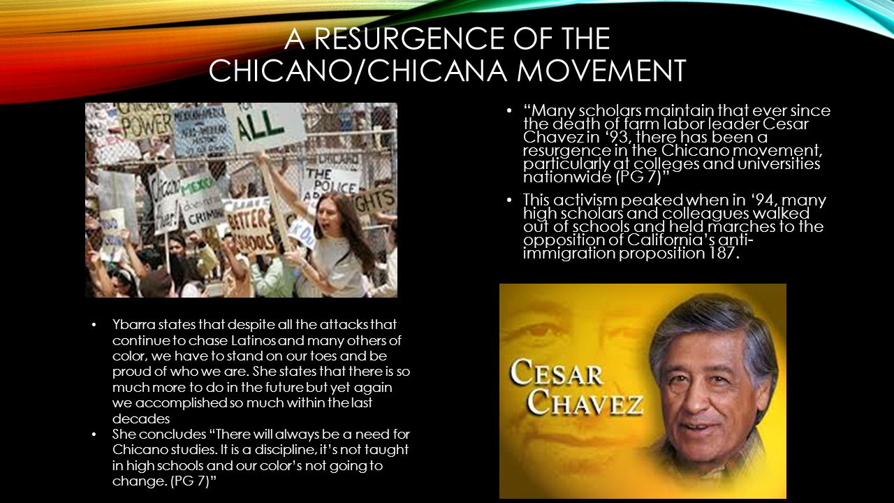 A Resurgence of the chicano/chicana movement