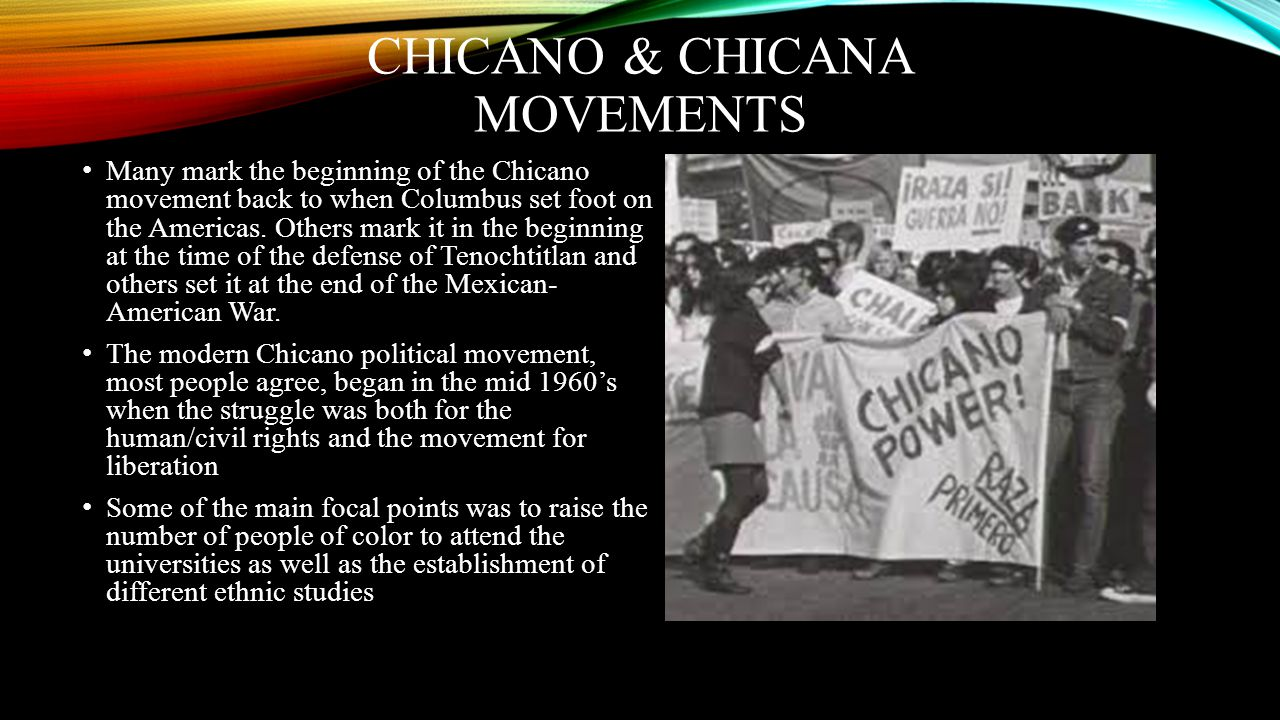 Chicano & chicana movements