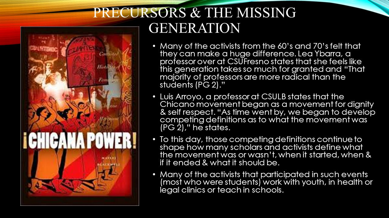 Precursors & the missing generation
