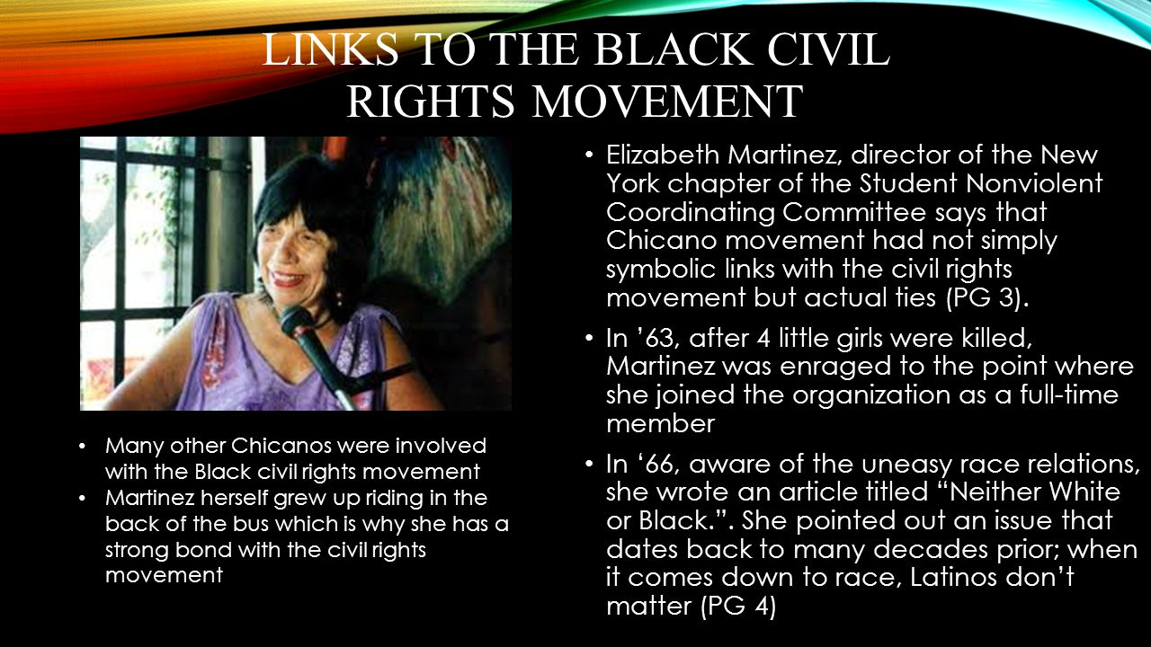Links to the Black Civil Rights Movement