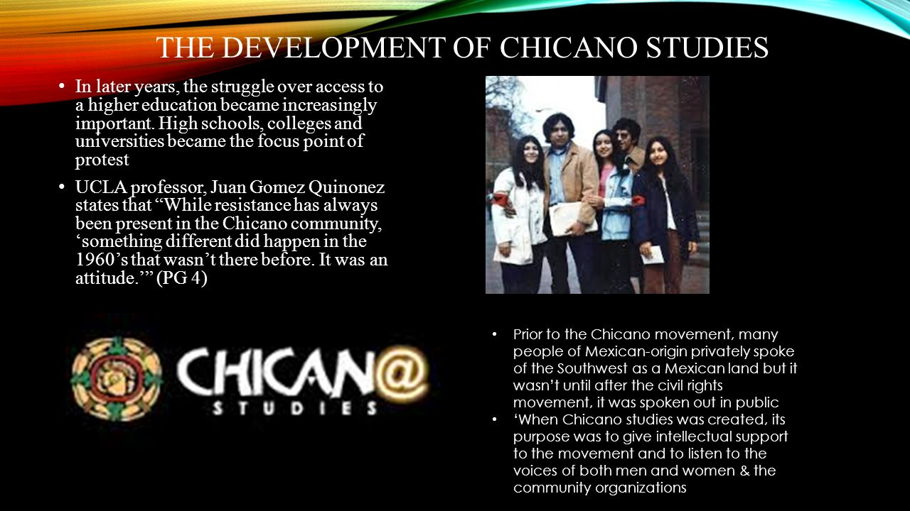 The Development of Chicano Studies