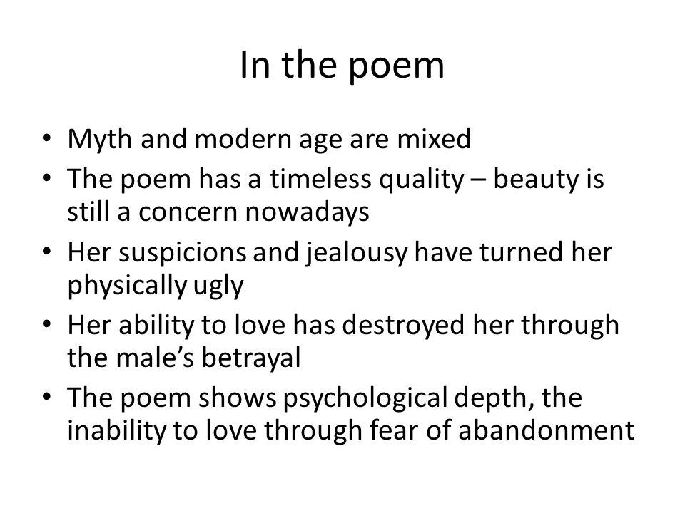 In the poem Myth and modern age are mixed
