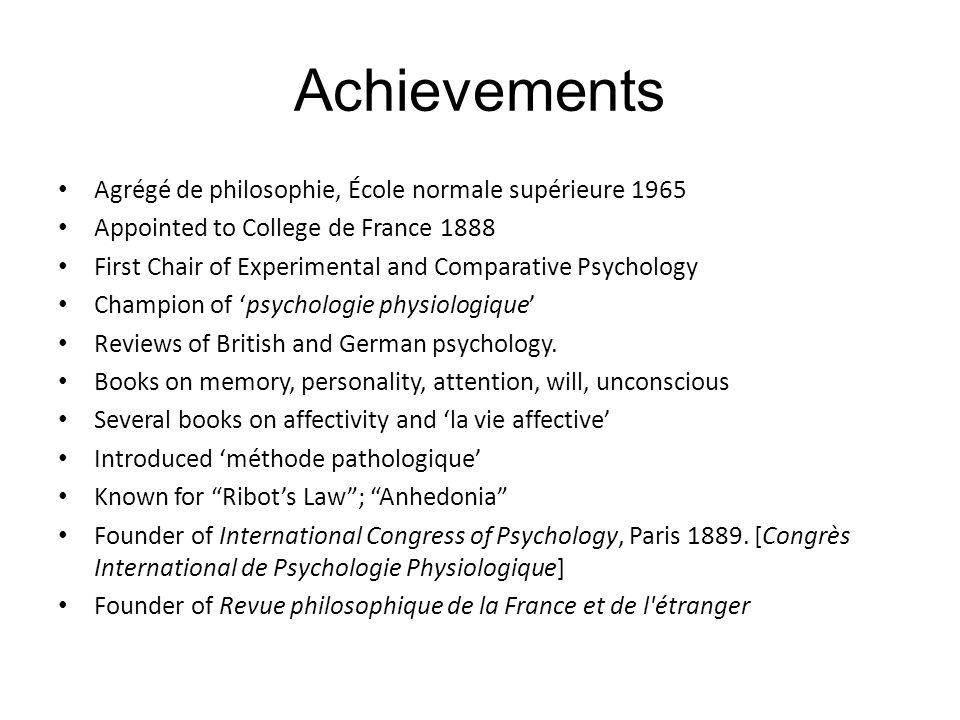 Achievements Agrégé de philosophie, École normale supérieure 1965