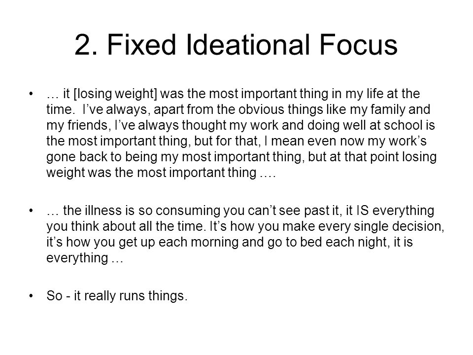 2. Fixed Ideational Focus
