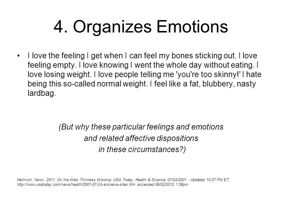 4. Organizes Emotions