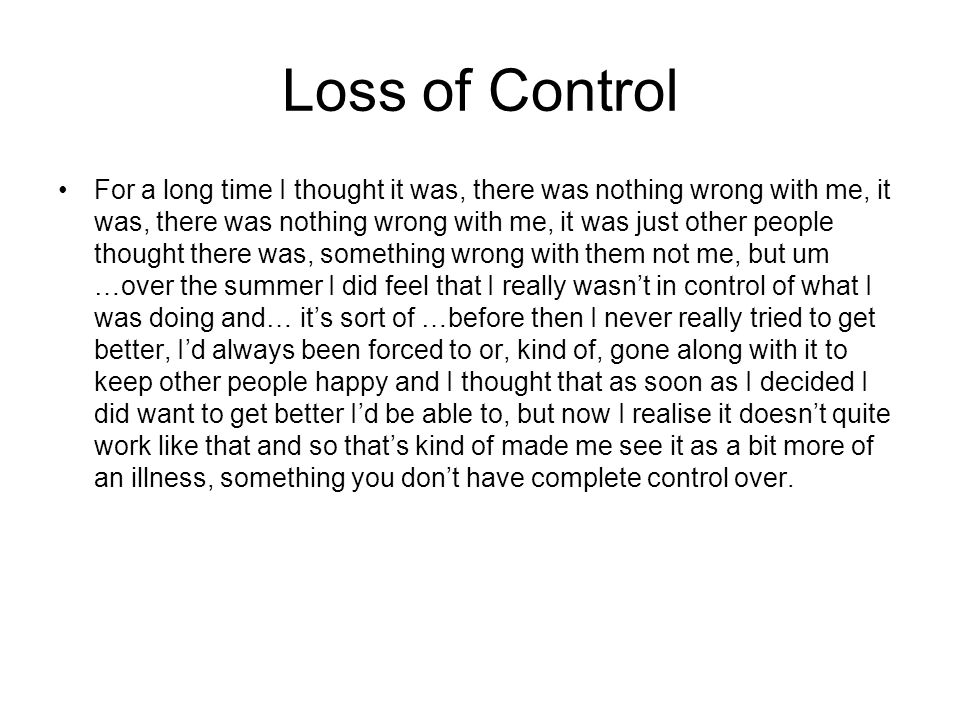 Loss of Control