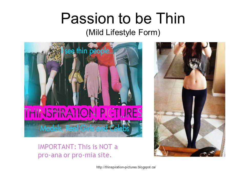 Passion to be Thin (Mild Lifestyle Form)