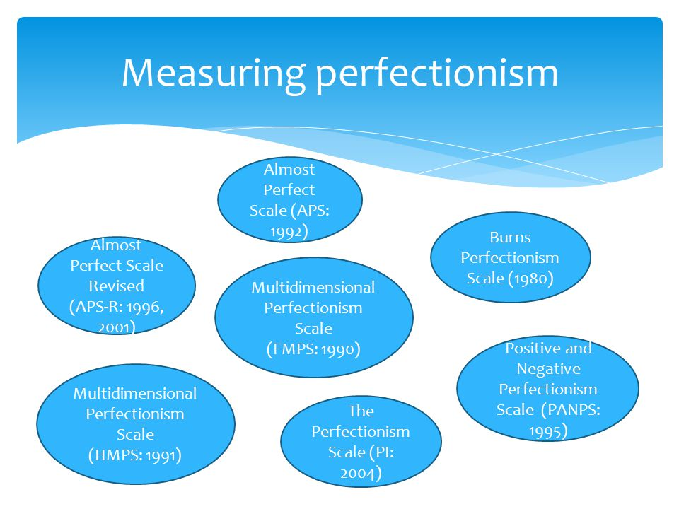 Measuring perfectionism