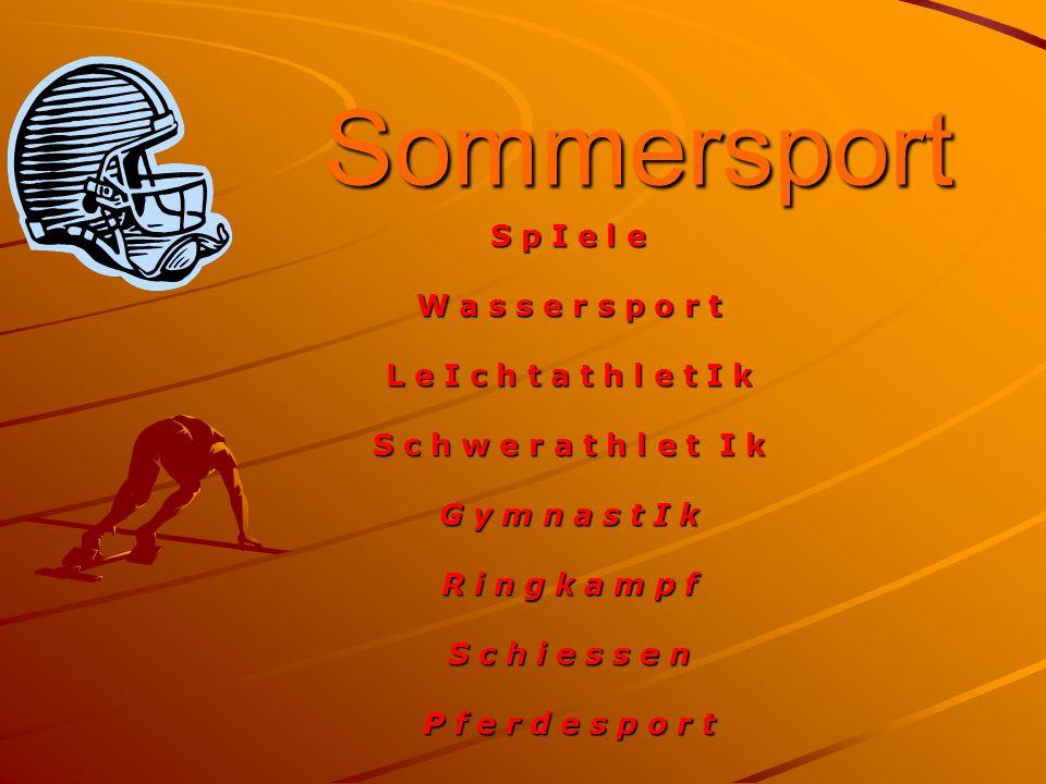 Sommersport S p I e l e W a s s e r s p o r t