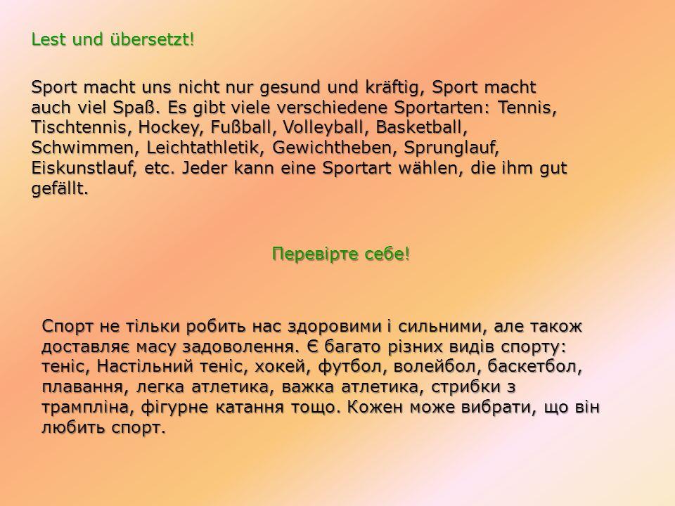 Lest und übersetzt!