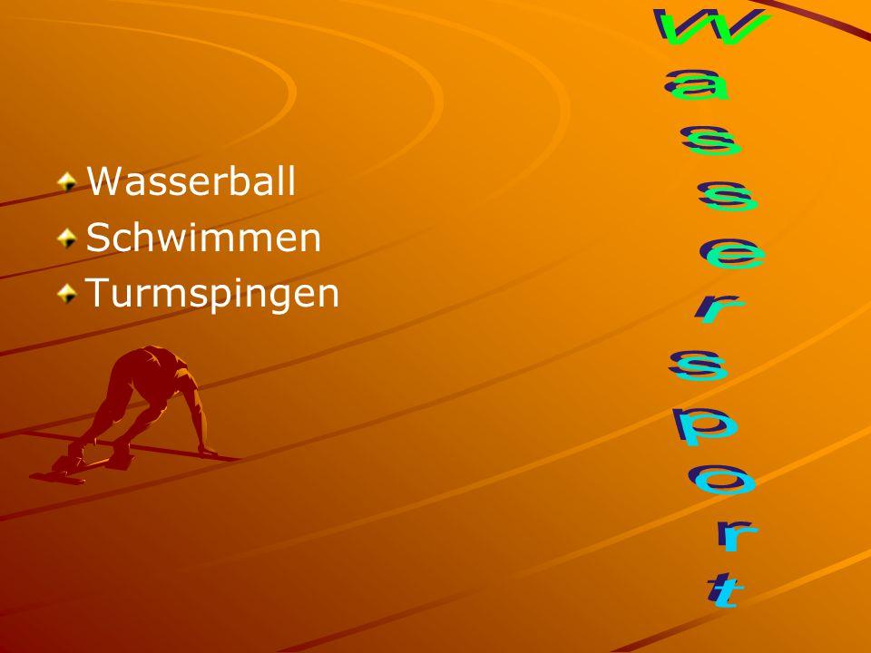 Wasserball Schwimmen Turmspingen Wassersport