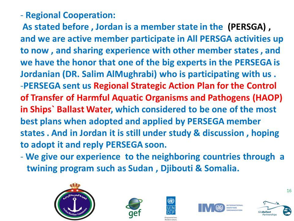 - Regional Cooperation: