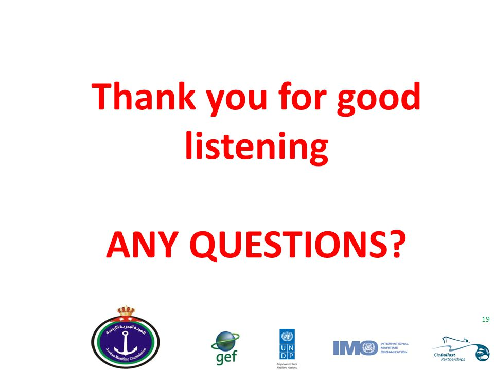 Thank you for good listening