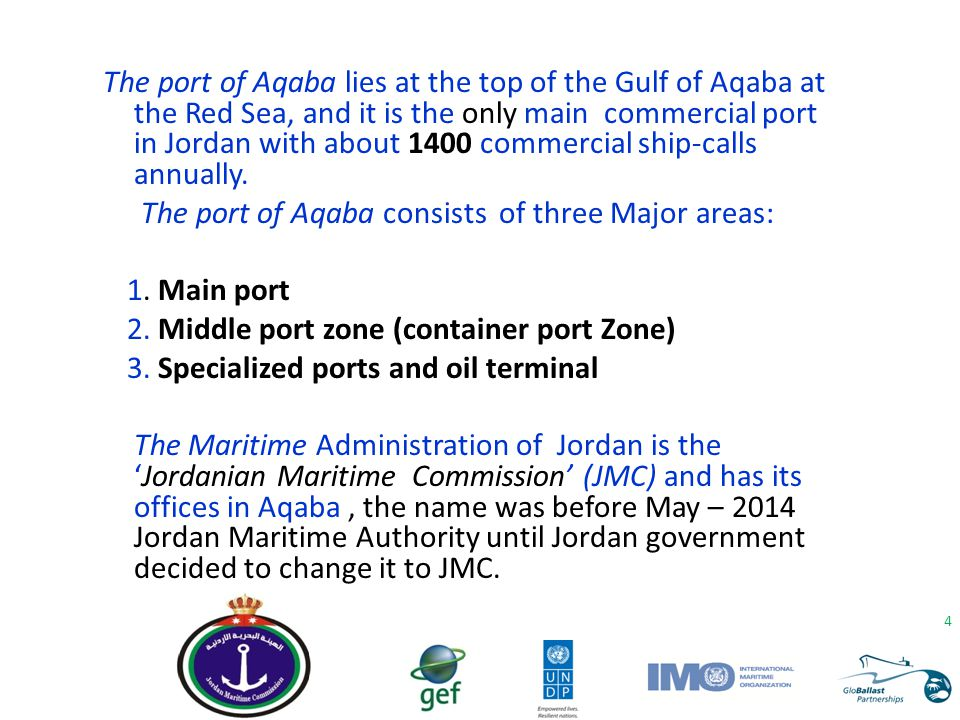 The port of Aqaba consists of three Major areas: 1. Main port