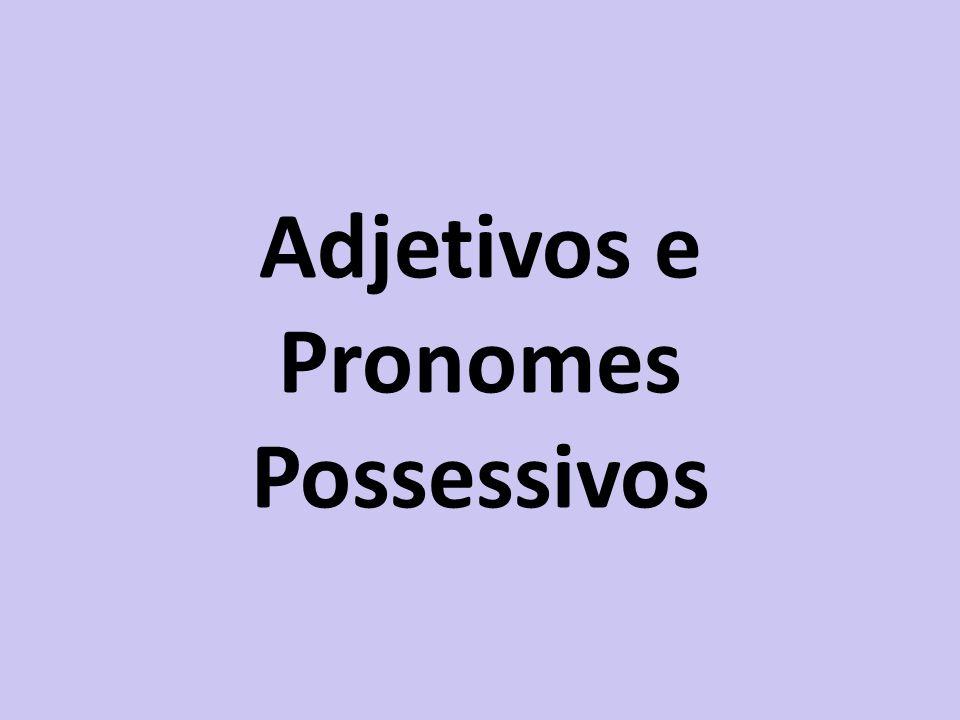 Adjetivos e Pronomes Possessivos
