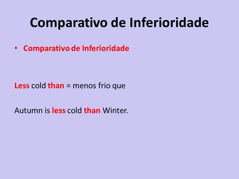 Comparativo de Inferioridade