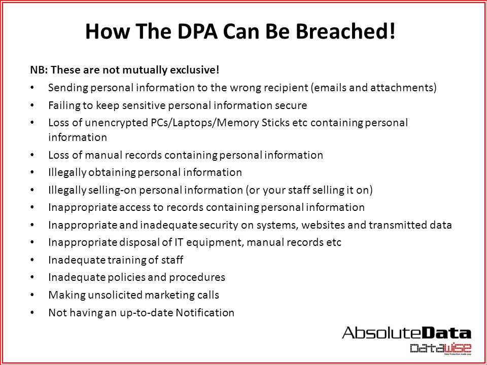 How The DPA Can Be Breached!