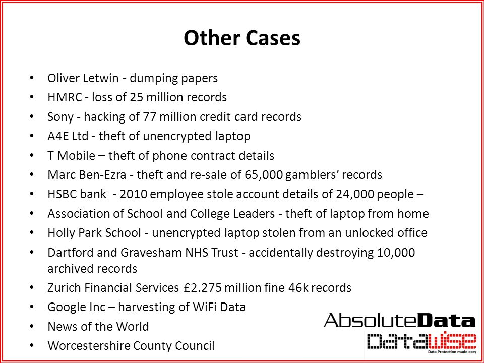 Other Cases Oliver Letwin - dumping papers