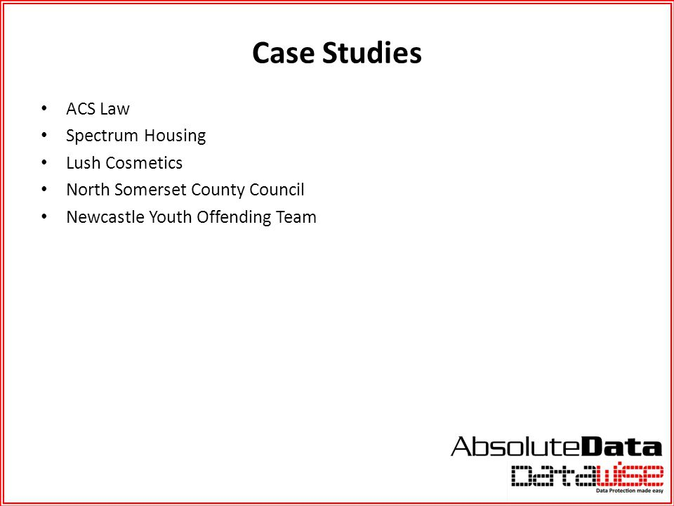 Case Studies ACS Law Spectrum Housing Lush Cosmetics