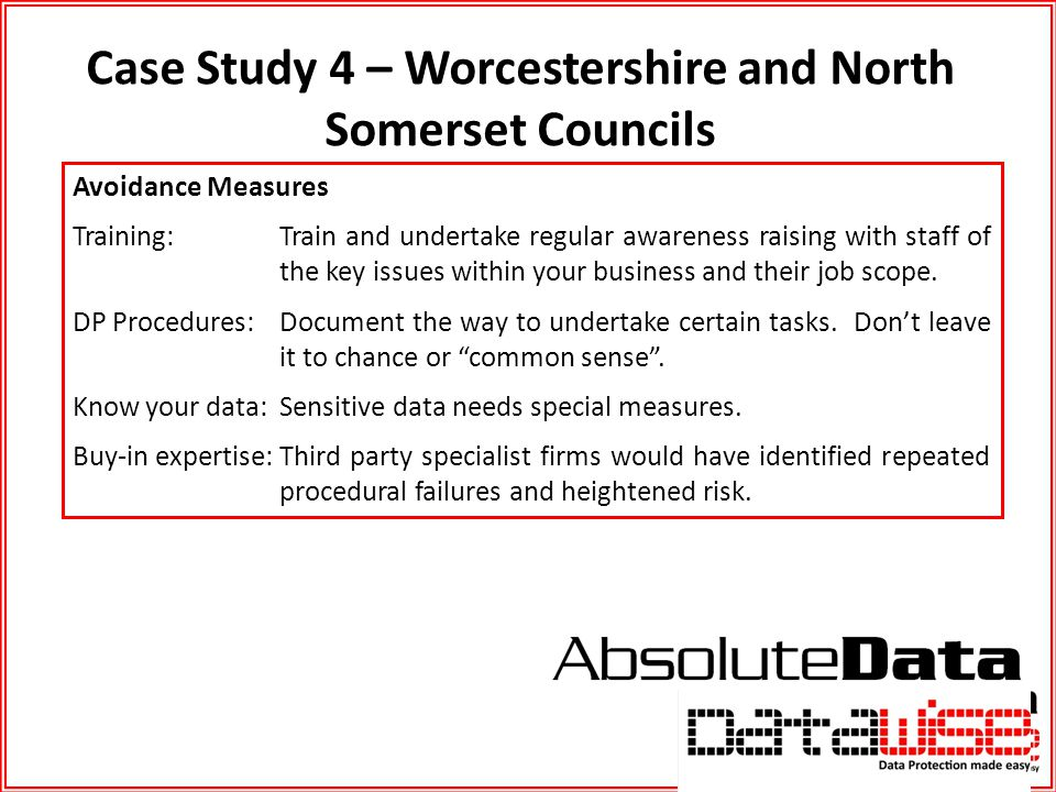 Case Study 4 – Worcestershire and North Somerset Councils
