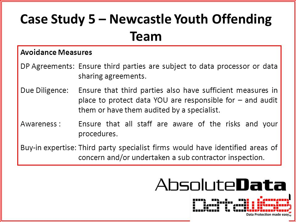 Case Study 5 – Newcastle Youth Offending Team