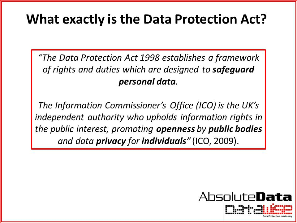 What exactly is the Data Protection Act