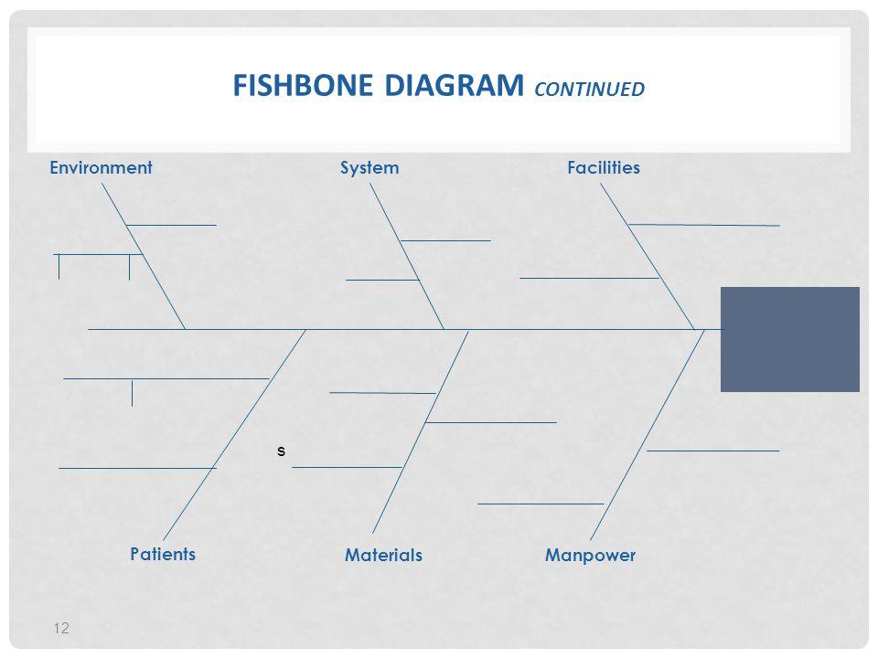 Fishbone Diagram continued